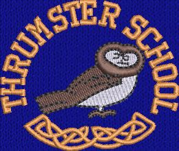 THRUMSTER  PRIMARY SCHOOL NAVY BOOK BAG WITH STRAP  AND WITH LOGO